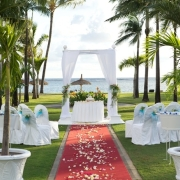 aisle, arch, beach, ceremony