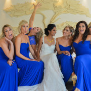 bride, bridesmaids, dress