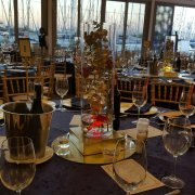 venue, decor, table