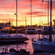 sea, sunset, view, venue