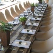 brown, decor, table setting
