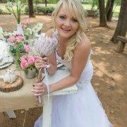 bouquet, decor, hairstyle, protea, table