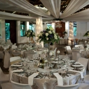 flowers, reception, table