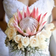 bouquet, flowers, protea