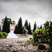 garden, wedding dress