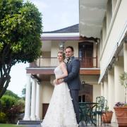 bride, groom, venue, wedding, white