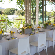 decor, grey, table setting, venue, white, yellow