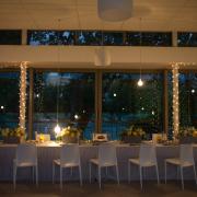decor, flowers, lighting, table setting, venue, white