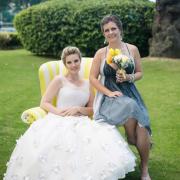 bride, grey, venue, white, yellow