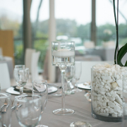crystal, decor, grey, table setting, white