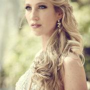 earrings, hair, makeup