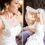 makeup, veil, wedding dress