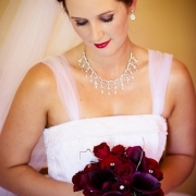 bouquet, makeup, necklace