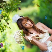 bouquet, forest, hairstyle, headpiece, makeup