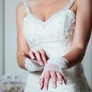 gloves, wedding dress