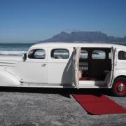 vintage car, wedding car, white, car