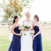 bouquet, bridesmaids dress, wedding dress