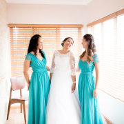 bridesmaids dress, wedding dress, blue