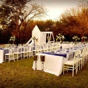 outdoor reception, table