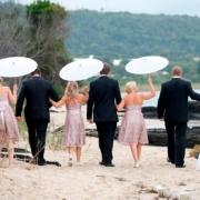 beach, bridesmaid dress, groomsmen
