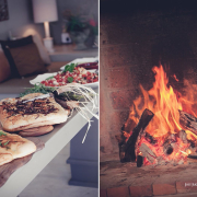 fireplace, food