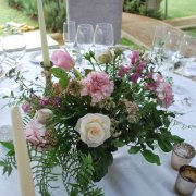 centrepiece, flowers, table setting