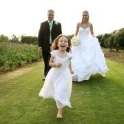 flower girl, suit, wedding dress