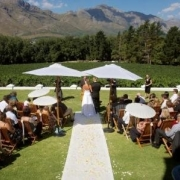 aisle, outside ceremony