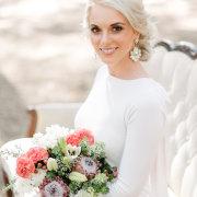 bouquet, earings, hair, makeup