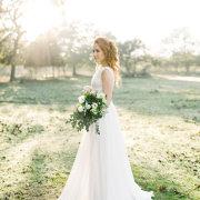 bouquet, hair, wedding dress