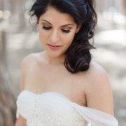 makeup, hair, wedding dress