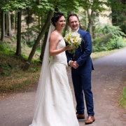 bouquet, bride and groom, suit, veil, wedding dress