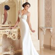wedding dress, headband