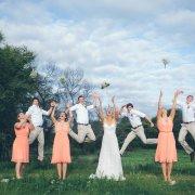 bridal party, bridesmaids dresses