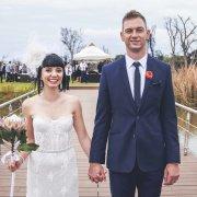 headpiece, pier, protea, suit, wedding dress