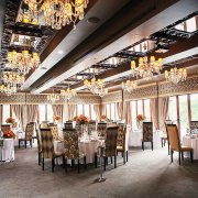 chandelier, decor, reception hall