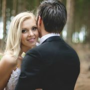 bride, groom, hair, makeup