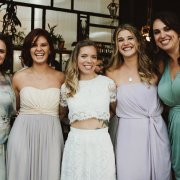 bridesmaids, dress, hair, makeup