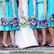 bouquet, bridesmaids dresses, wedding dress