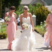 bouquet, wedding dress, bridesmaids dresses