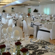 black and white, reception, venue, wedding venue
