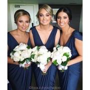 bouquet, bridesmaid dress