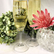 champagne glass, wedding gift