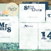 invitation, menu, save the date, table numbers