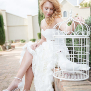 doves, shoes, wedding dress