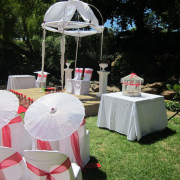 chair covers, doves, gazebo
