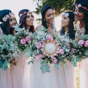 flowers, bridesmaids dresses