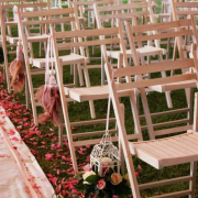 outdoor ceremony, outside ceremony, aisle, chair, petals, seating