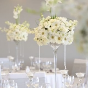 decor, white wedding, flowers