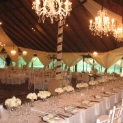chandelier, fairy lights, venue, wedding venue, white wedding, table